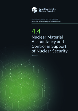 4.4 Nuclear Material Accountancy and Control in Support of Nuclear Security