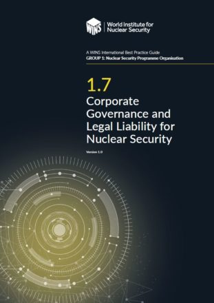 1.7 Corporate Governance and Legal Liability for Nuclear Security