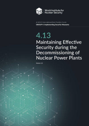 4.13 Maintaining Effective Security during the Decommissioning of Nuclear Power Plants